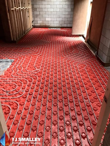 Underfloor Heating Water Pipe Installation Bolton