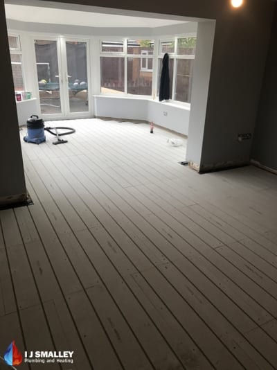 Multiple Room Overlay Underfloor Heating Installation Bolton