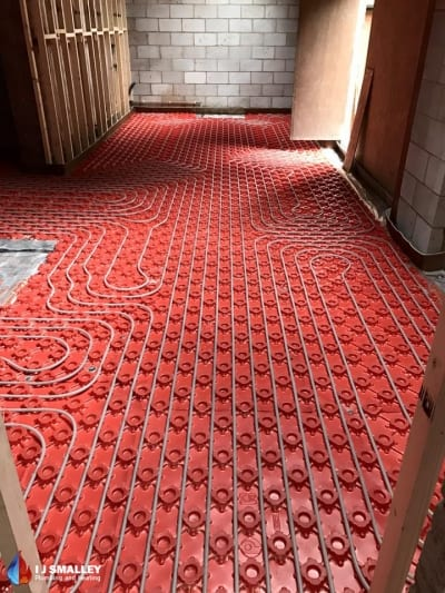 In Screed Multiple Room Underfloor Heating Installation Bolton