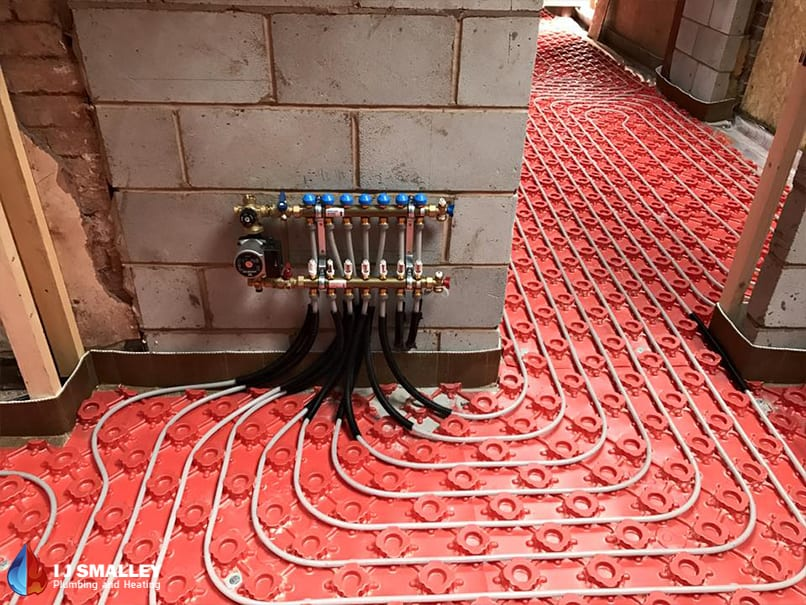 In Screed Underfloor Heating System Pump Installation Bolton