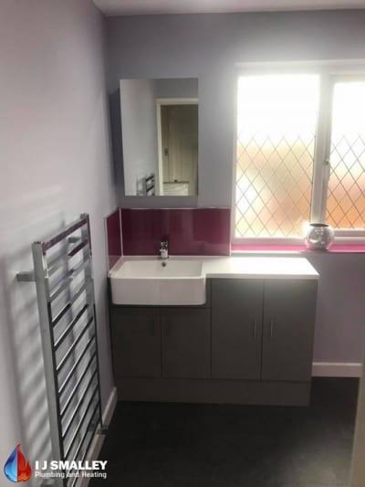 Colourful Bathroom Sink Installation Bolton
